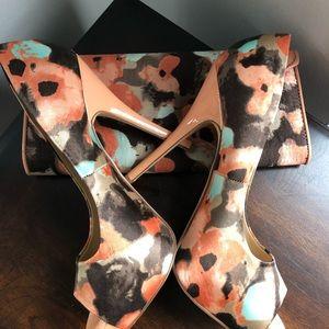 Aldo heels+crossbody matching bag